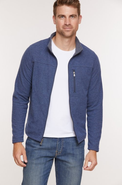 Atlas Italian Wool-Blend Fleece Pullover Sweater