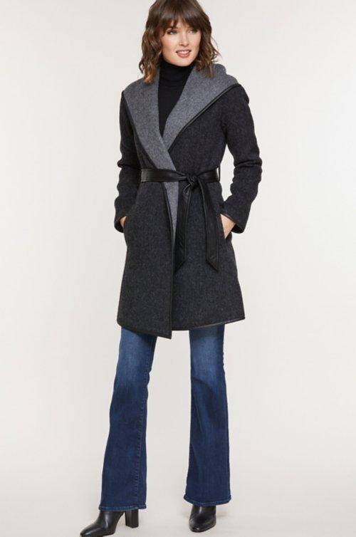 Annette Hooded Peruvian Alpaca Wool Coat
