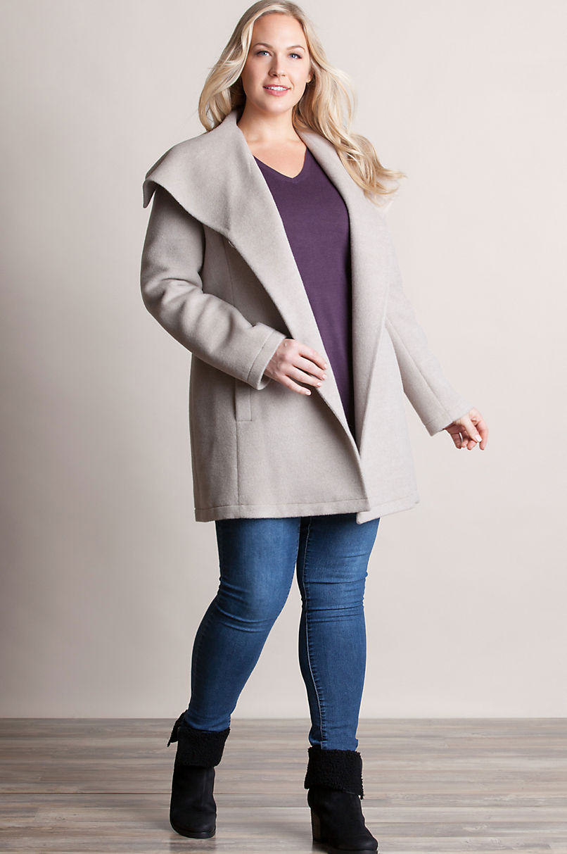 Bianca Peruvian Alpaca Wool-Blend Coat - Plus (18-24)