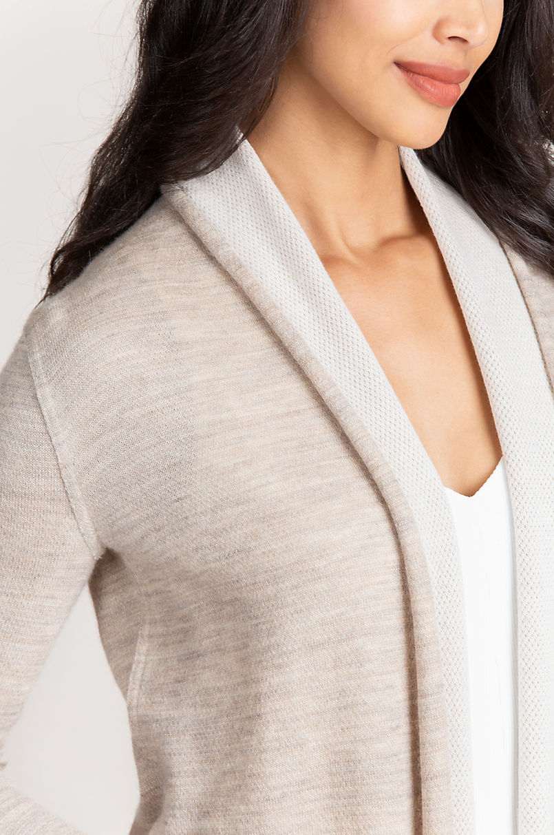 Penelope Reversible Alpaca Wool-Blend Cardigan Sweater