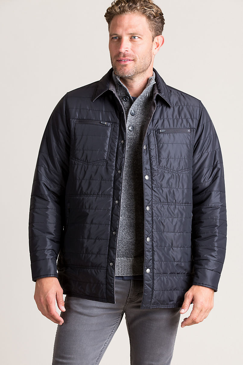 Clint Reversible Quilted Canvas Shirt Jacket