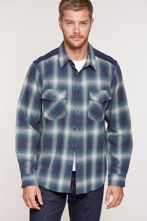 Alden Plaid Heavy Cotton Flannel Overshirt
