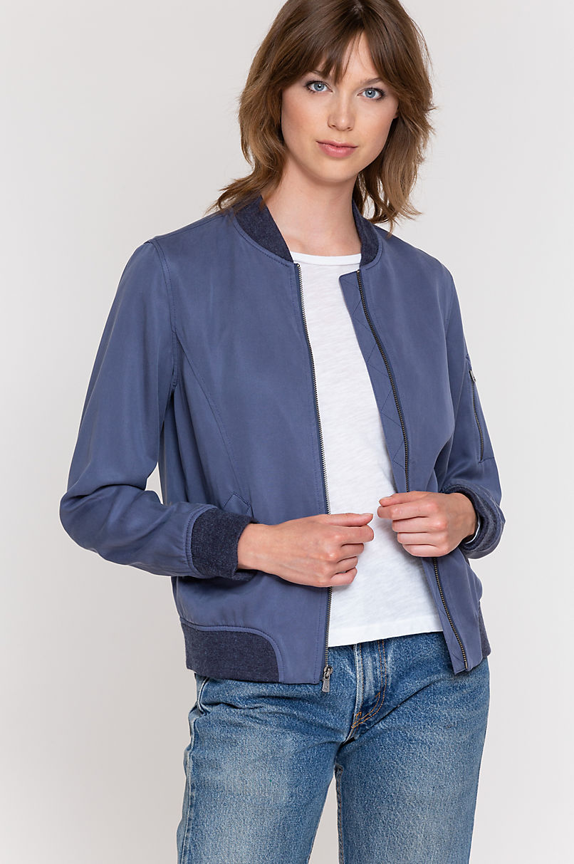 Nina Tencel Bomber Jacket