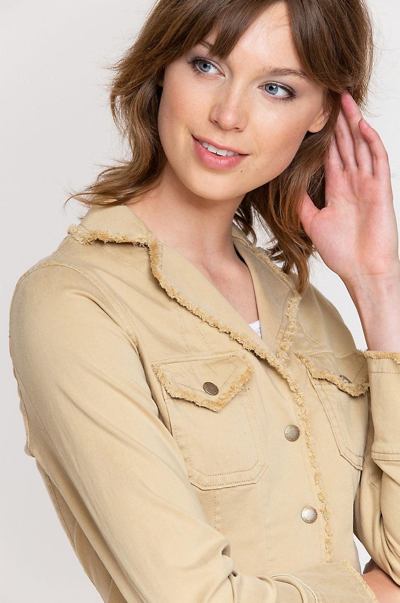 Naomi Frayed Tencel-Blend Stretch Blazer
