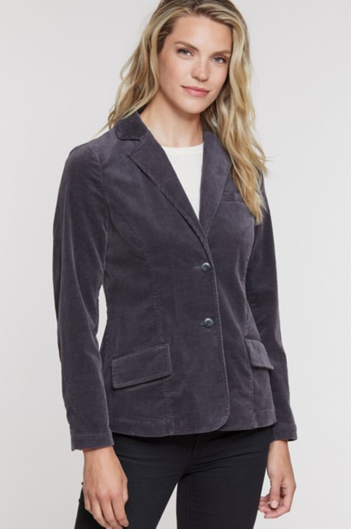 Serena Corduroy Stretch Fitted Blazer