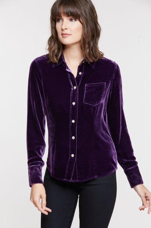 Gloria Velvet Shirt