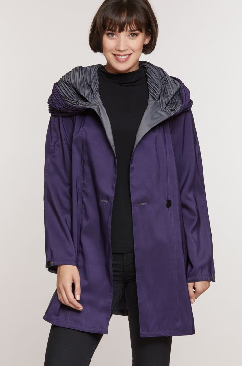 Donna Mini Reversible Hooded Packable Raincoat Jacket