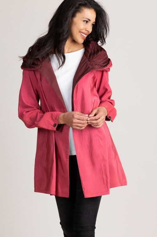 Donna Mini Reversible Hooded Packable Raincoat Jacket