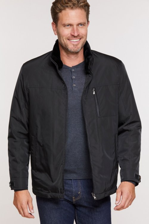Jett Microfiber Jacket with Detachable Shearling Lining