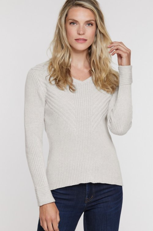 Evy Organic Peruvian Cotton Pullover Sweater