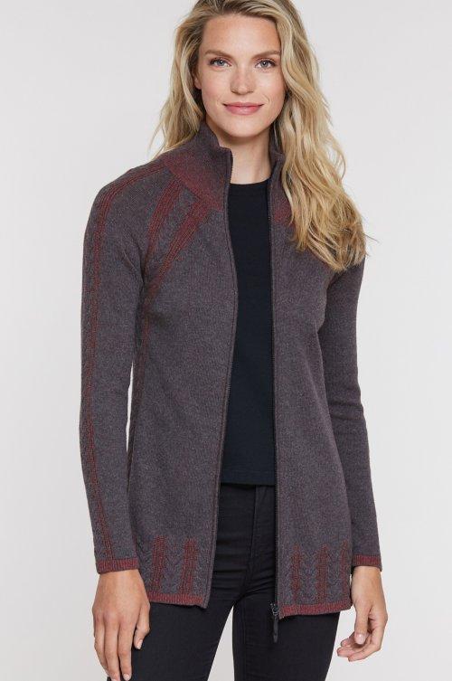 Ella Cable Knit Cotton Cardigan Sweater