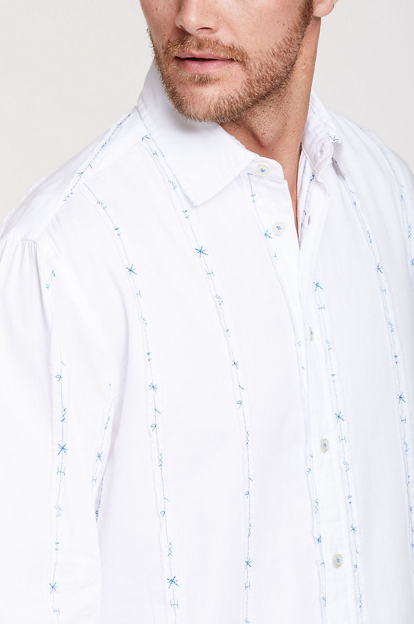 Scott Striped Cotton Shirt