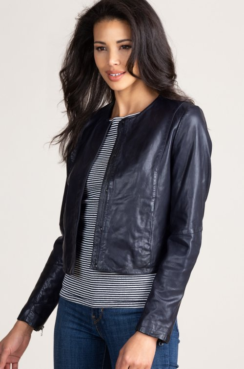 Nila Lambskin Leather Jacket