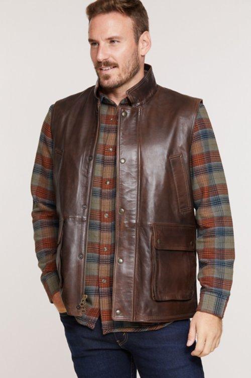 Haddington Lambskin Leather Vest