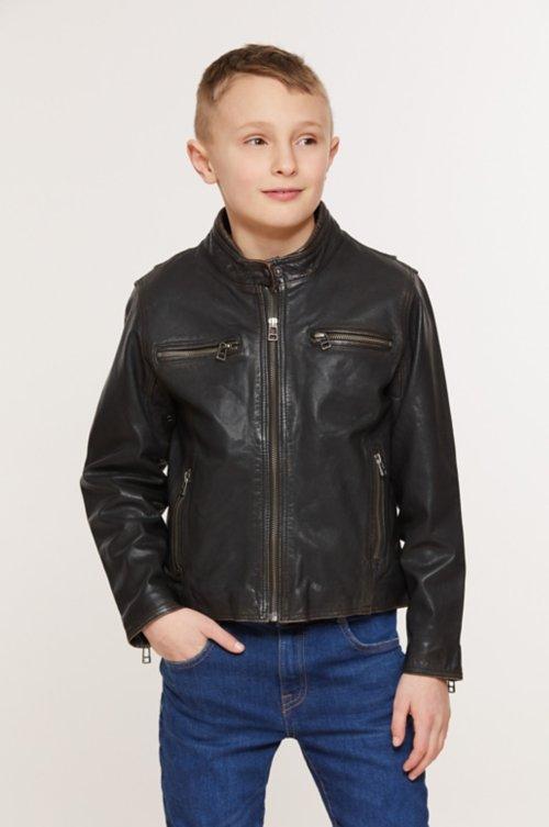 Children's Retro Leather Motorcycle Jacket