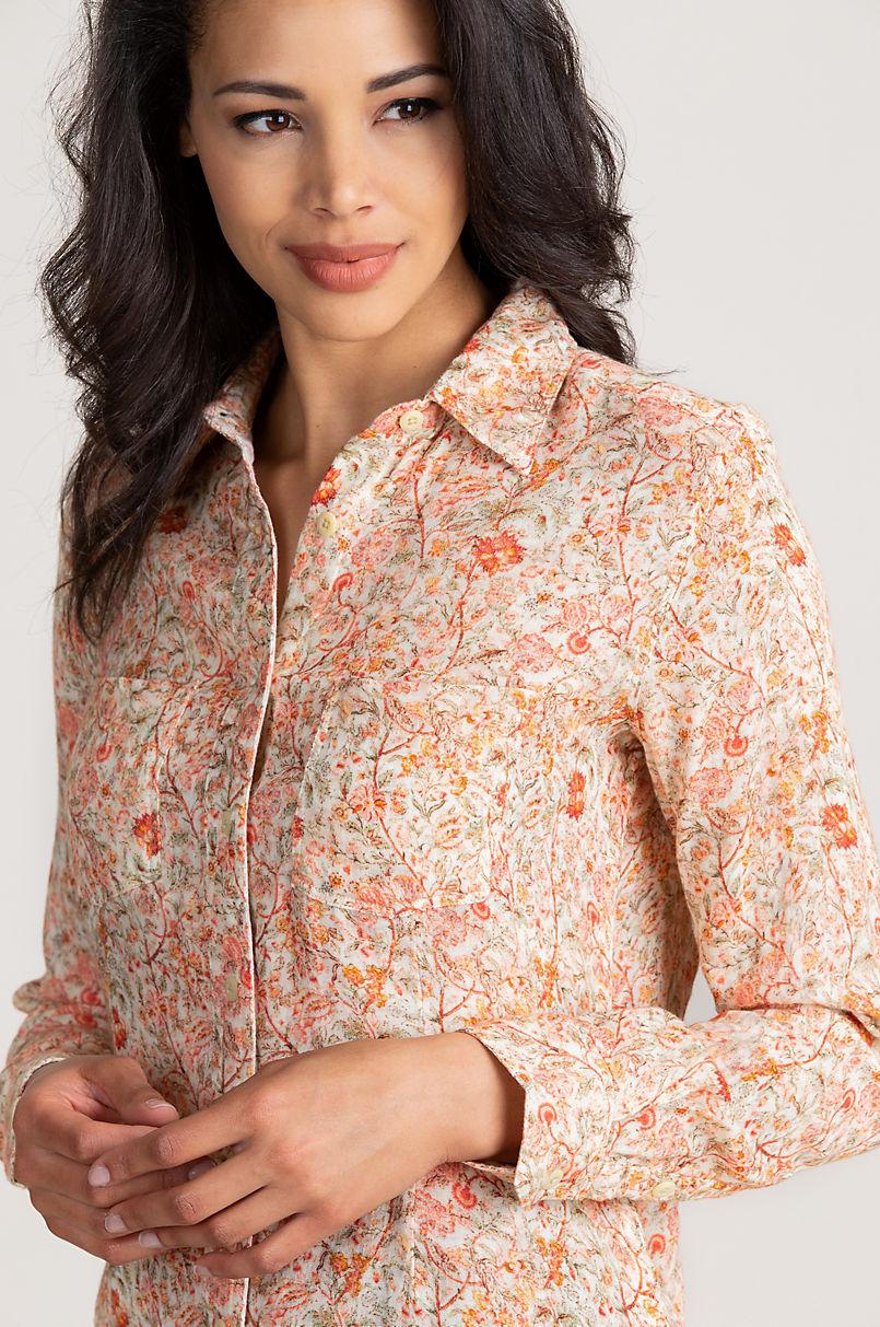 Julianne Floral Print Cotton Shirt