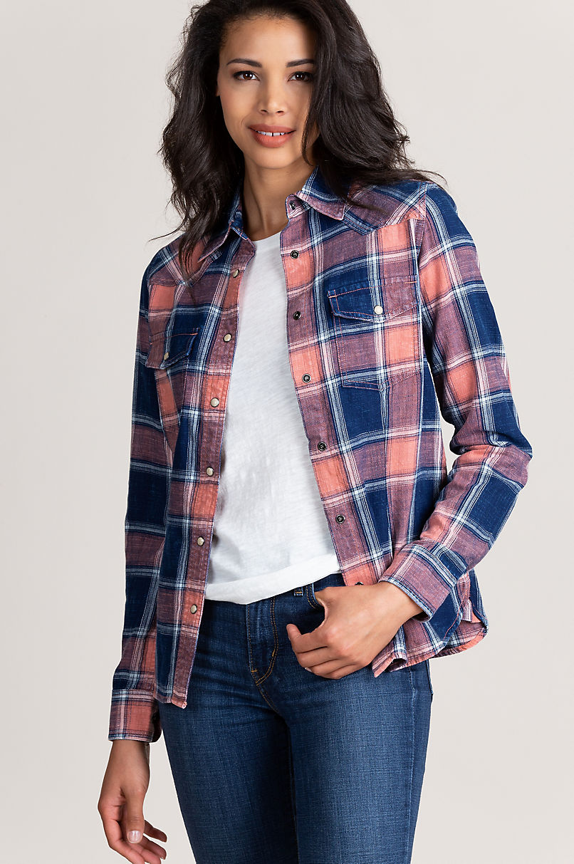 Lana Plaid Cotton Shirt