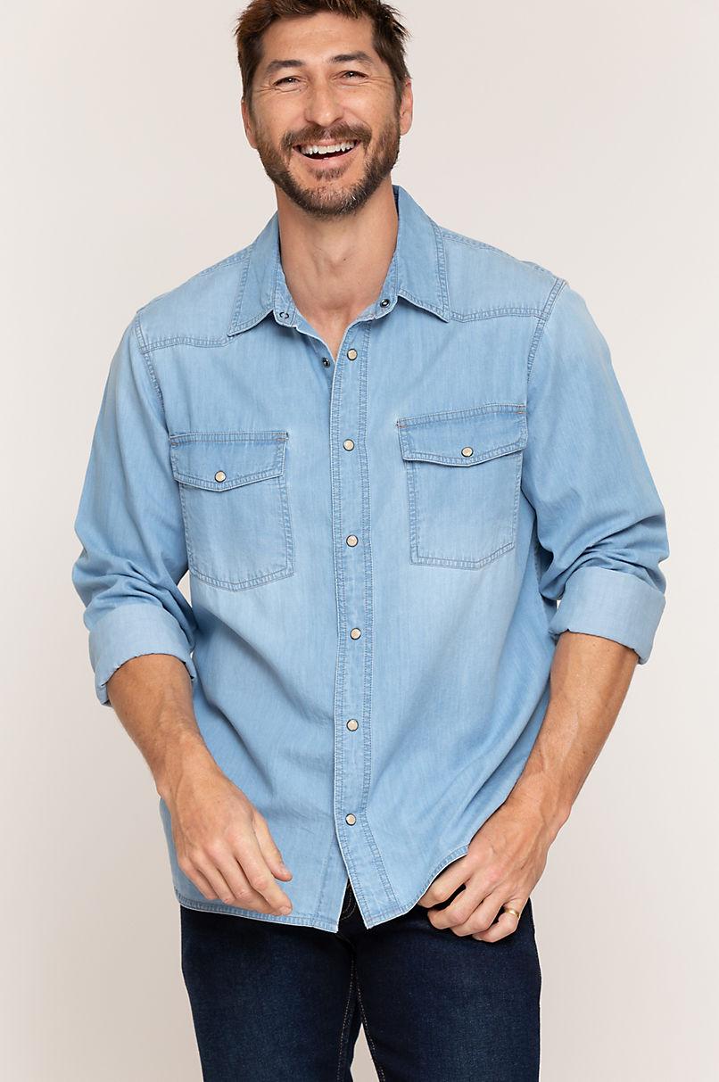 Aiden Denim Western Shirt