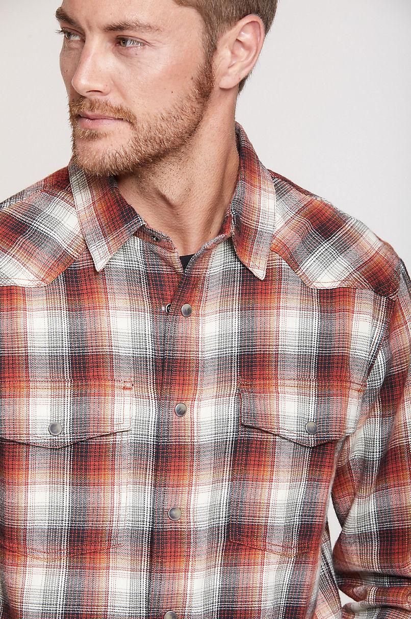 Barrett Plaid Cotton Western Shirt