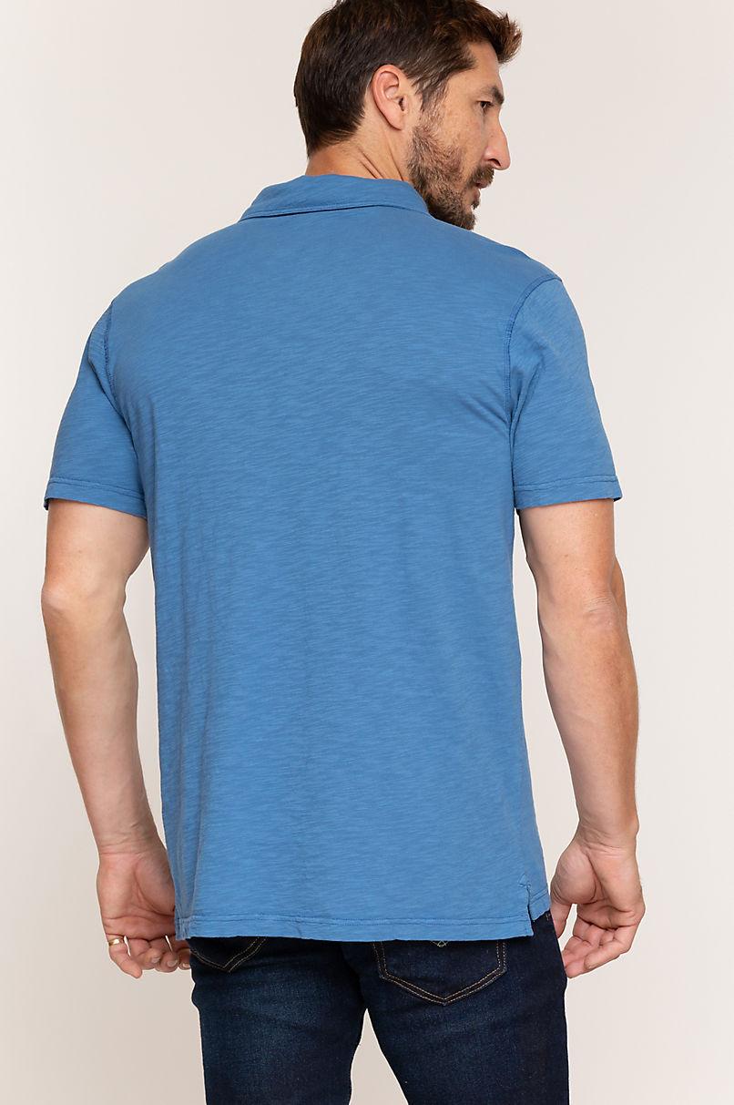 Taos Textured Jersey Pocket Polo Shirt
