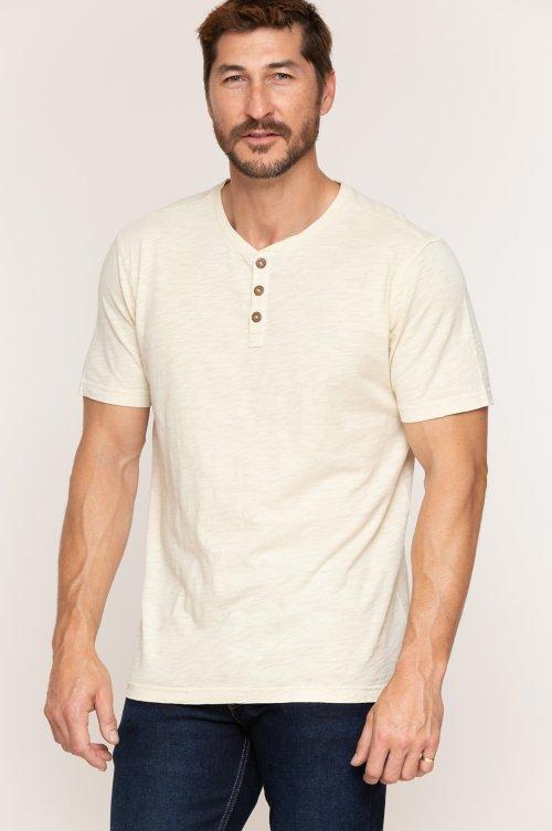 Taos Textured Jersey Henley Shirt