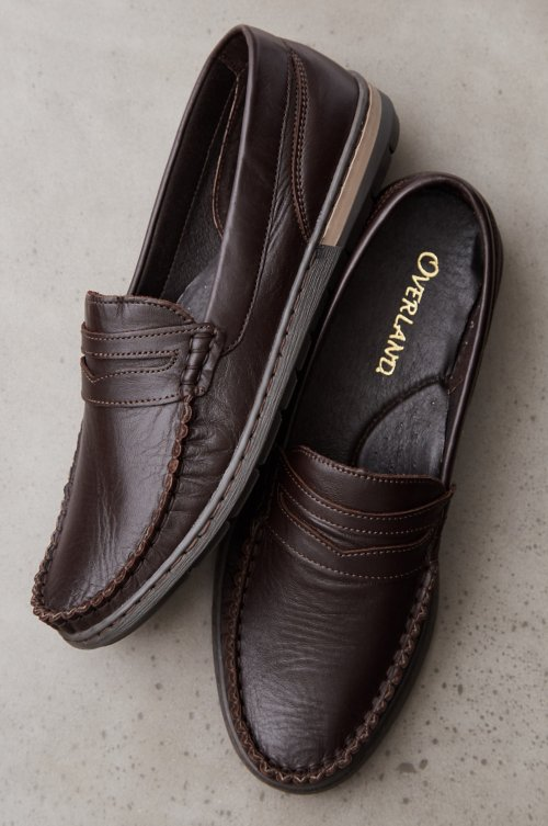 Men's Niles Leather Moccasin Shoes
