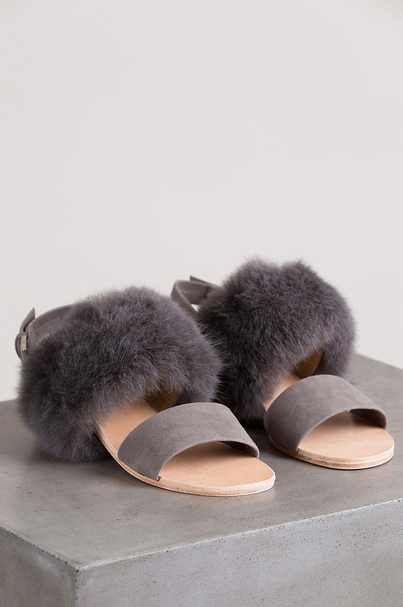 Women's Huma Blanco Clemence 2.0 Alpaca and Calfskin Suede Sandals
