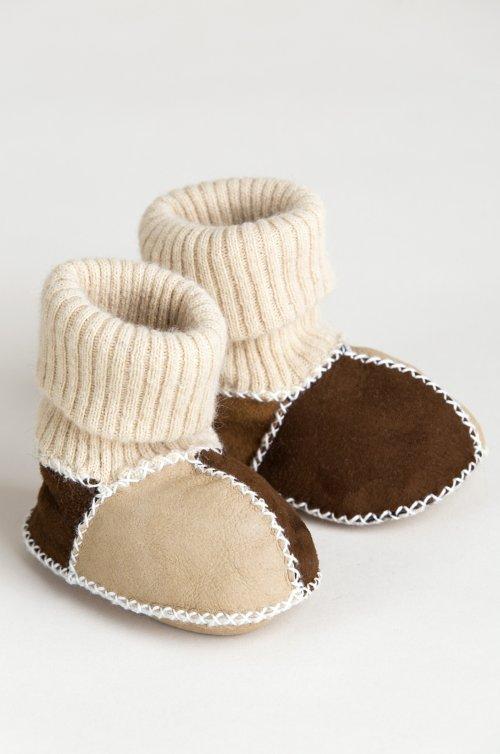 Children's Spanish Merino Sheepskin Slipper Booties