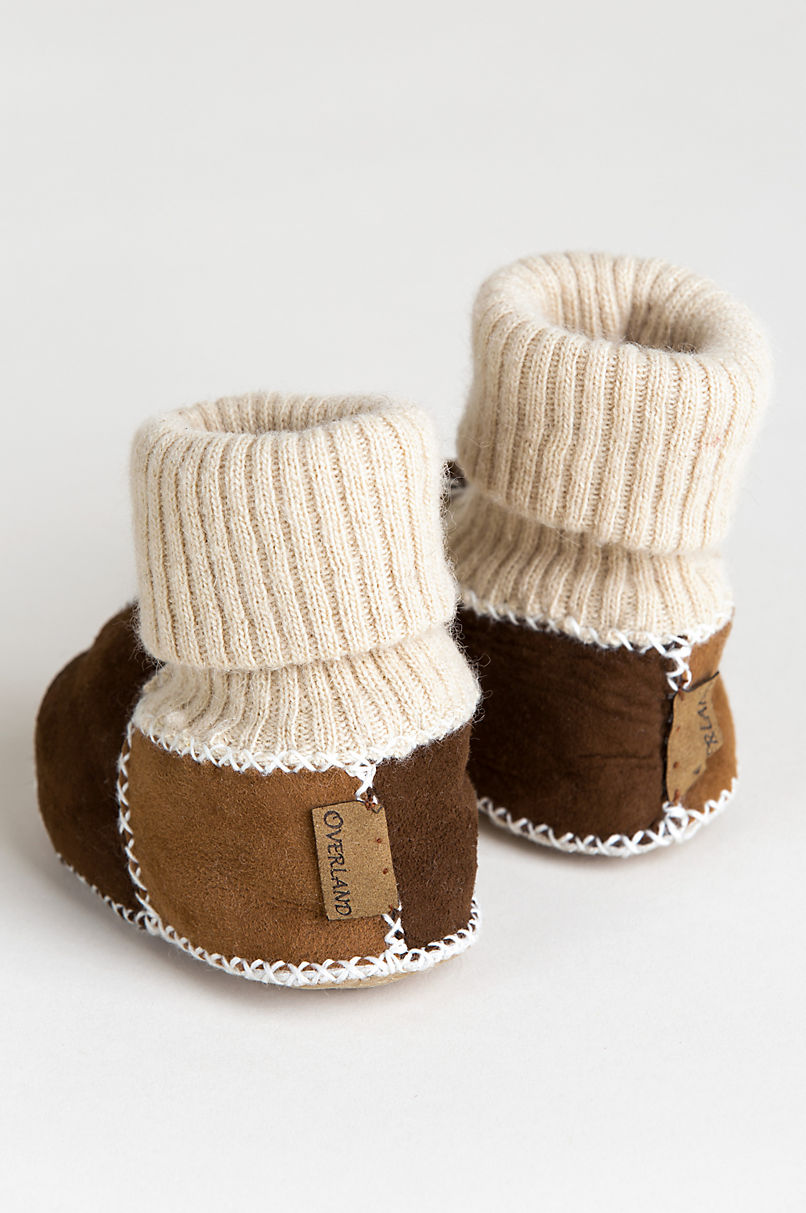 Children's Spanish Merino Sheepskin Slipper Booties