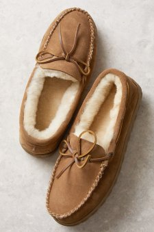 Men's Sydney Australian Merino Sheepskin Moccasin Slippers