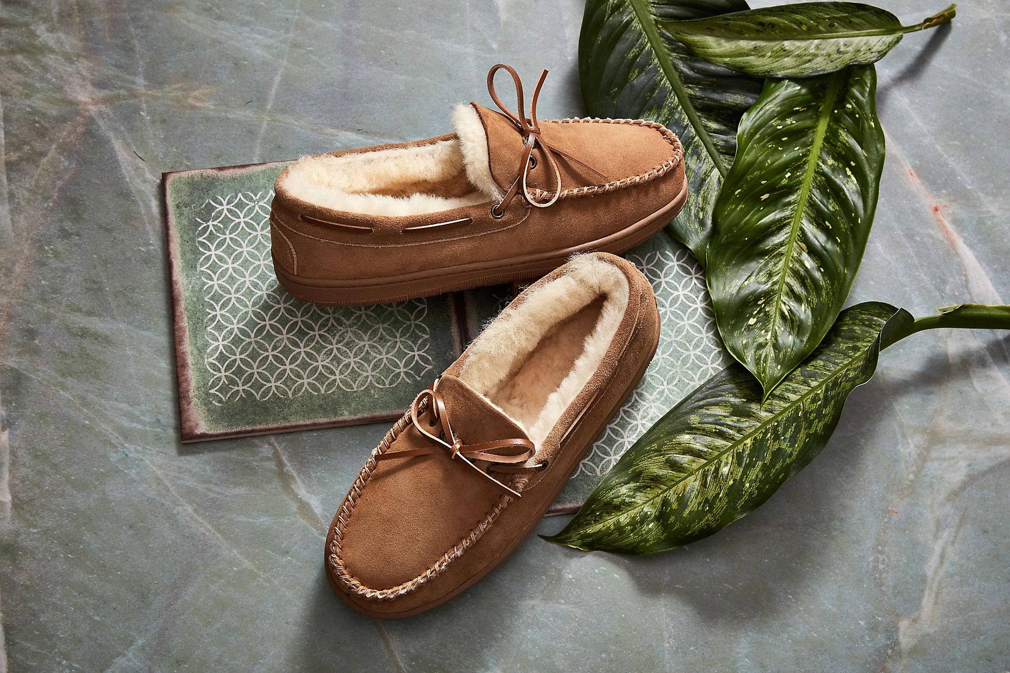 Men's Sydney Australian Merino Sheepskin Moccasin Slippers