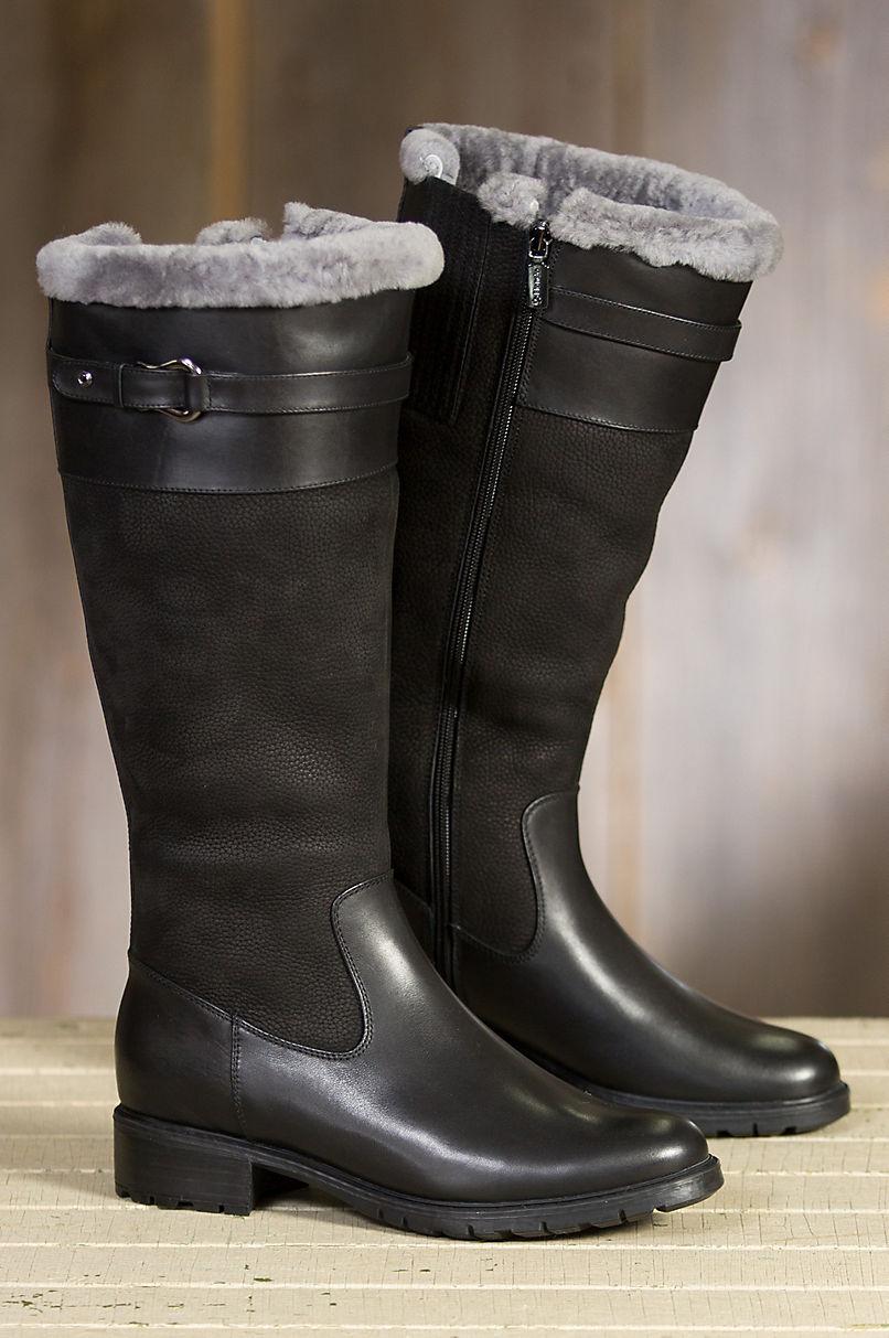 Women S Blondo Via Shearling Lined Waterproof Leather