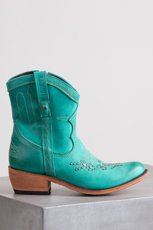 Women's Liberty Black Quinn Leather Cowboy Boots