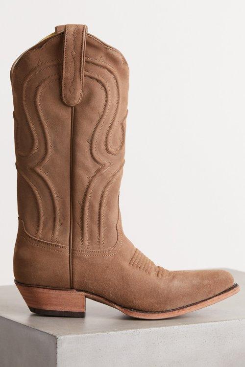 Women's Liberty Black Suede Cowboy Boots