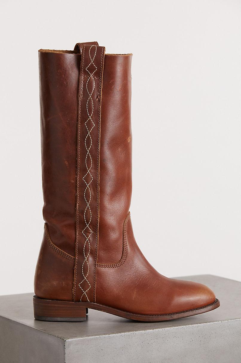 Women's Liberty Black Tessa Distressed Leather Boots