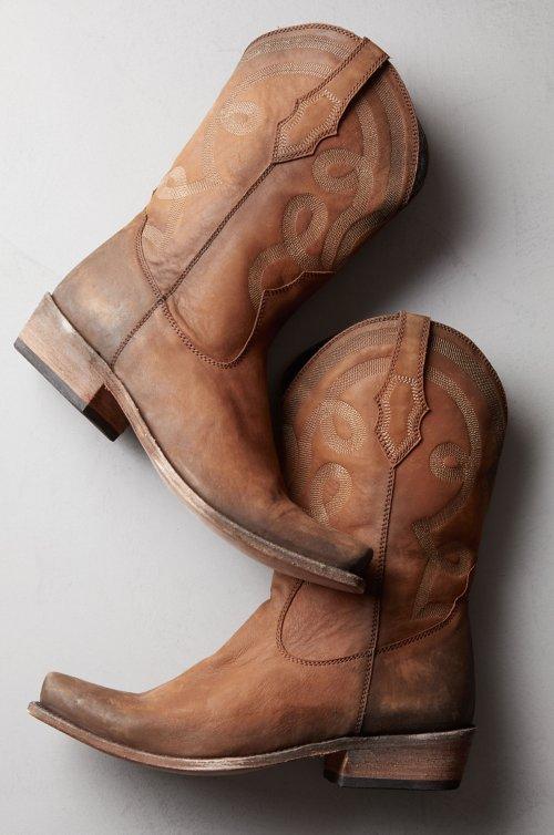 Men's Liberty Black Luen Distressed Leather Cowboy Boots