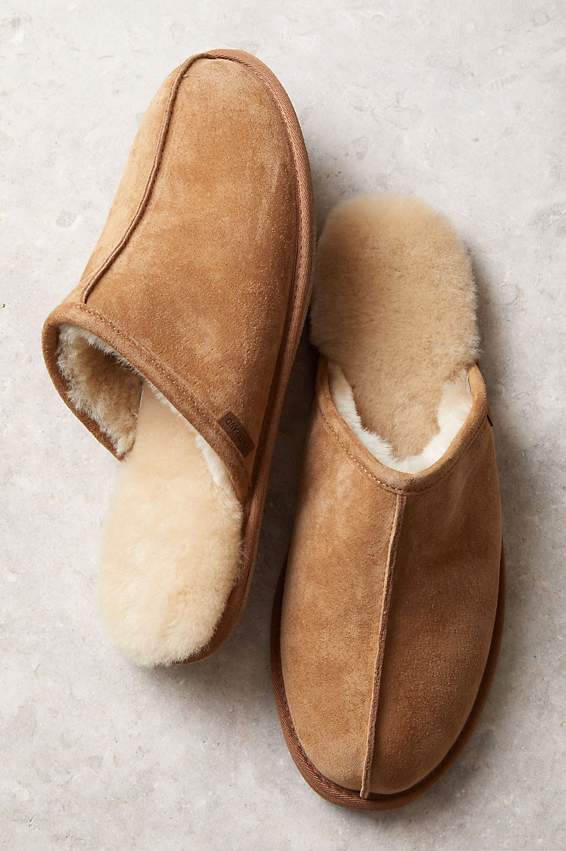 Men S Clic Australian Merino Shearling Lined Scuff Slippers