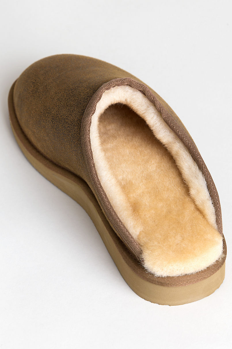 Men's Clyde Australian Merino Sheepskin Scuff Mule Slippers with Arch Support