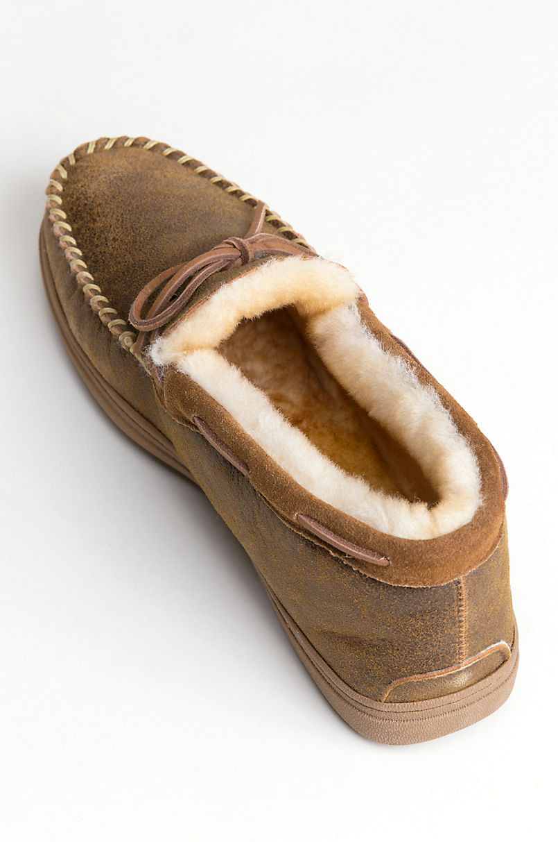 Men's Blake High-Back Australian Merino Sheepskin Moccasin Slippers