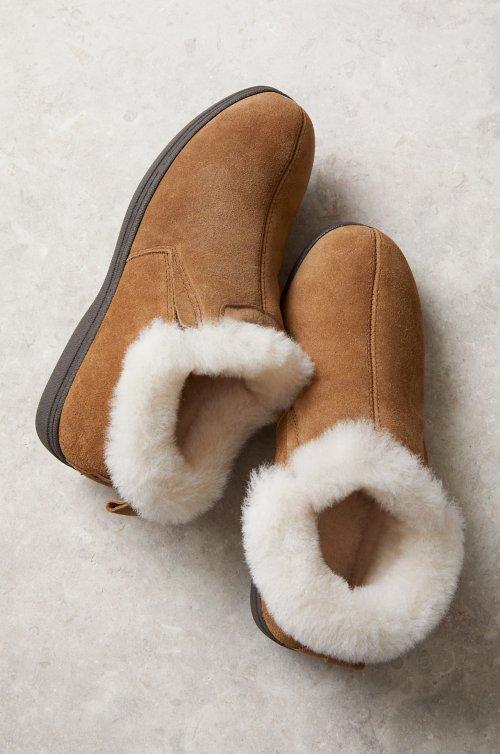 Women's Terra Australian Merino Shearling-Lined Cowhide Suede Slipper Shoes