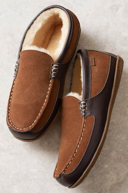 Men's Dylan Australian Merino Shearling-Lined Moccasin Slippers
