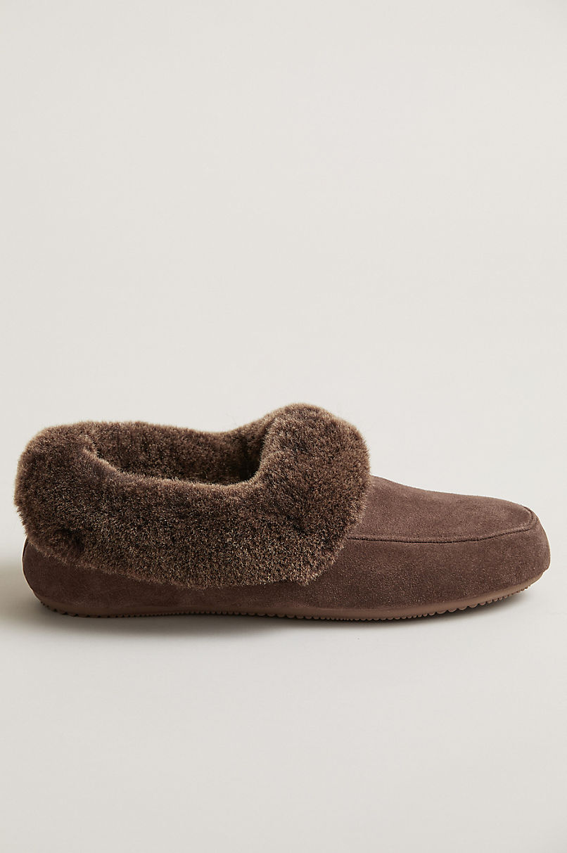 Women's Carly Australian Merino Shearling-Lined Suede Slippers