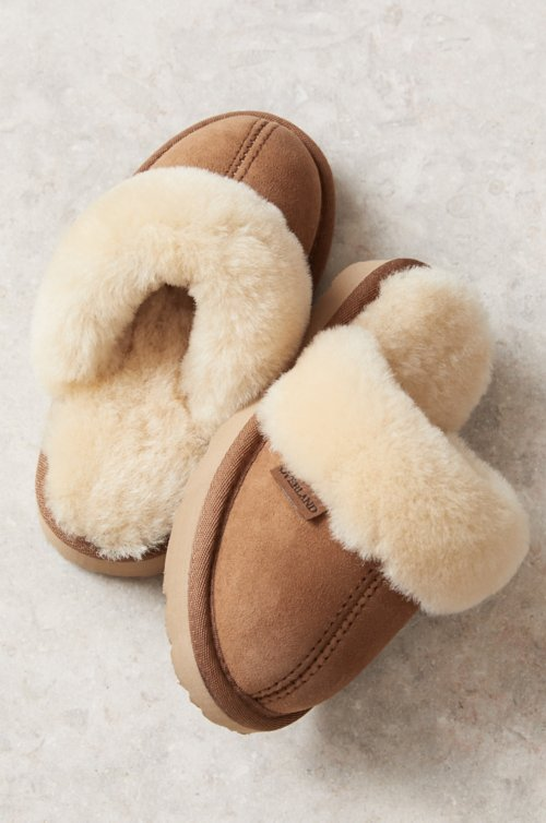 Children's Classic Australian Merino Sheepskin Scuff Slippers