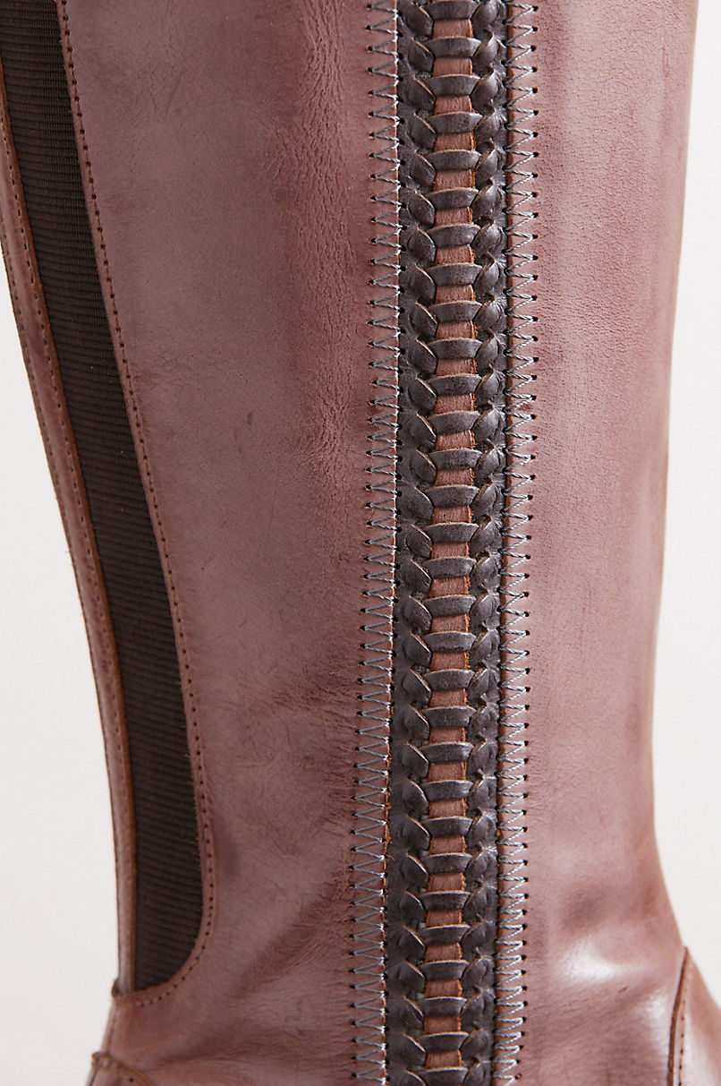 Women's Genny Microfiber-Lined Calfskin Leather Boots