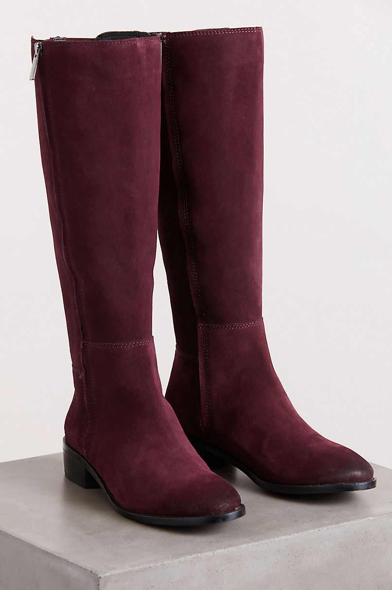 Women's Nell Microfiber-Lined Suede Boots
