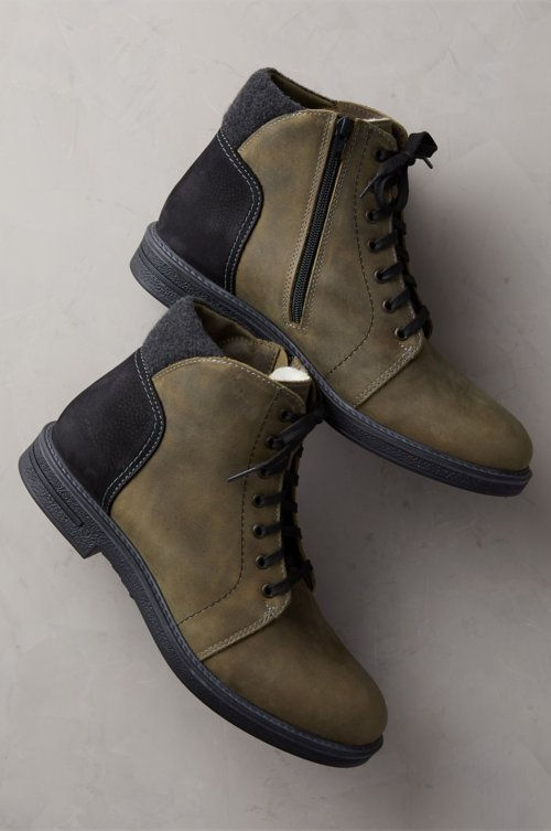 Men's Clement Wool-Lined Waterproof Italian Leather Boots