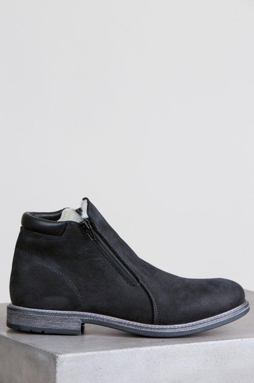 Men's Francois Wool-Lined Waterproof Italian Suede Boots