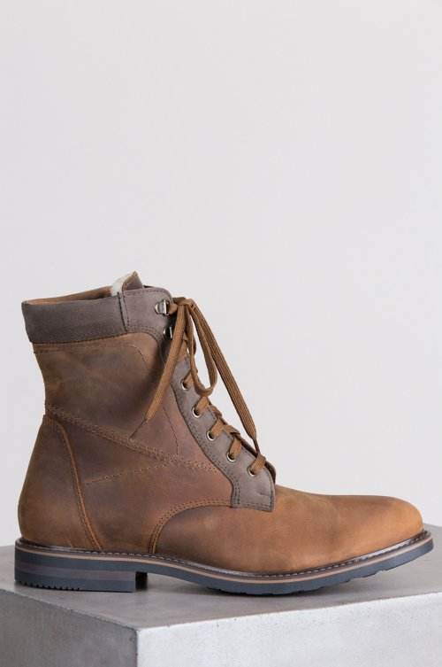 Men's Isaac Wool-Lined Waterproof Nubuck Leather Boots