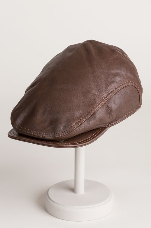 Allen Leather Ivy Cap with Shearling Earflaps