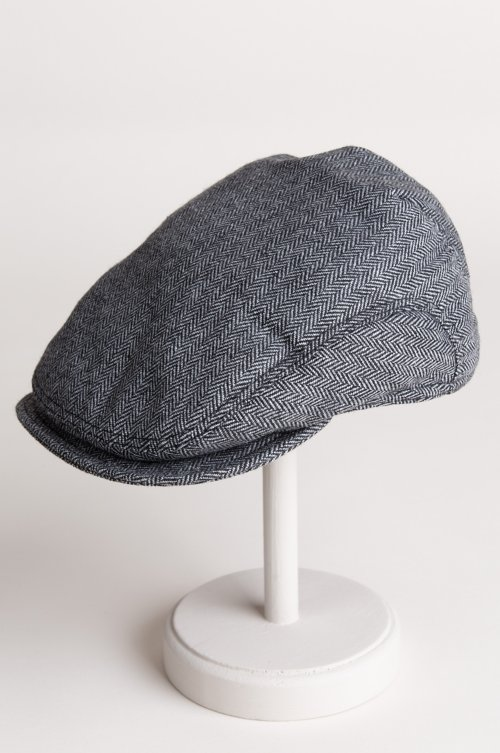 Ivy Wool Herringbone Cap with Shearling-Lined Earflaps